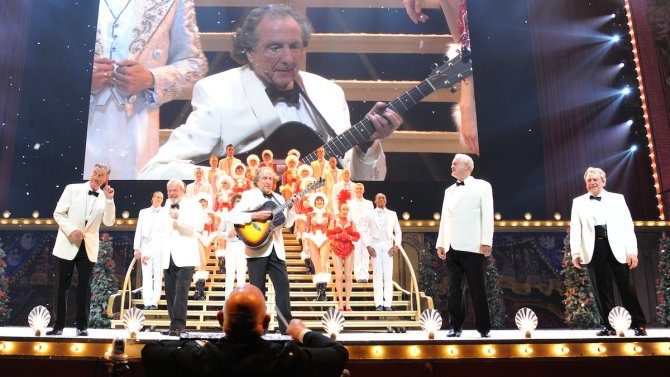 """Opening Night """"Monty Python Live (Mostly)"""" - Curtain Call and Backstage"""
