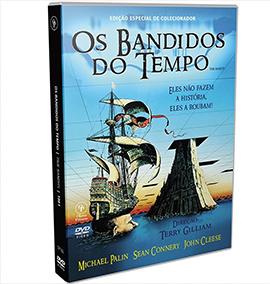 O DVD do filme Os Bandidos do Tempo